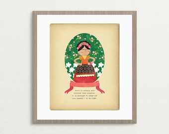 Mexican Artist Character Quote -  8x10 Archival Art Print