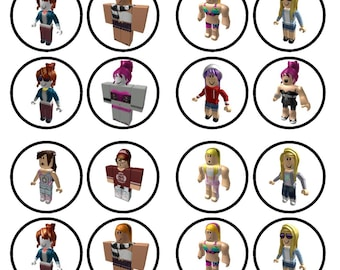 Roblox Girl Character #3 Edible Wafer Rice Paper Cake Cupcake Toppers x 24 PRECUT