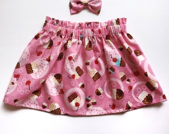 Baby Cakes Skirt (baby and toddler cupcake print skirt)