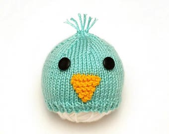 Blue Bird Baby Hat | Blue Bird Hat / Blue Bird Newborn Hat / Baby Chick Hat / Easter Baby Hat / Spring Baby Hat / Baby Shower Gift