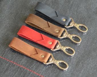Monogrammed leather key fob  Leather key holder  Leather key chain Leather monogram keychain