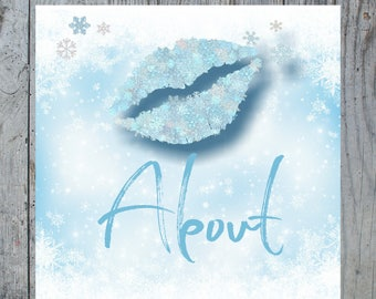 Winter Lipsense Facebook Album Covers, Snowflake Album Covers Lipsense Senegence Facebook Covers, Christmas ,Glitter  INSTANT DOWNLOAD