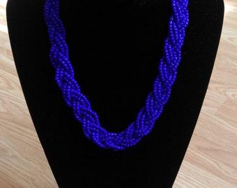 Braided seedbead necklace