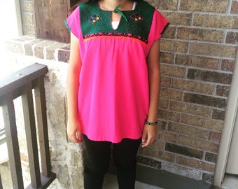 S-M Embroidered Mexican shirt