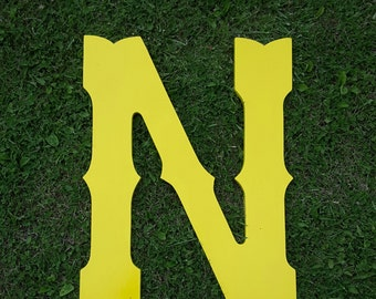 """Wooden letters 30"""" wedding guest books western style yellow"""