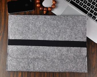 """Felt Laptop Case, HP 14"""" Laptop Case, 14 Inch Laptop Case, HP Laptop Sleeve, Felt Attache Case, Felt Tablet Case, Gift For Him, 3A278"""