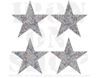 Star Iron-on Transfers, 4 size options, 23 color options