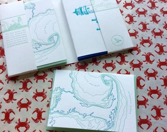 Cape Cod - eight letterpress note cards