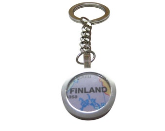 Finland Map Pendant Key Chain