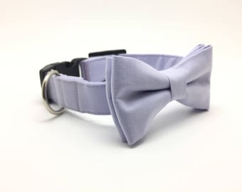 Lavender Purple Dog Bow Tie, Wedding Dog Bow Tie and Collar, Wedding Dog Bow Tie, Wedding Dog Collar, Purple Dog Collar, #dog