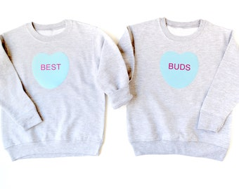 Best Buds, BFF shirt, BEST FRIENDS forever, Valentines Day, Boys V Day Clothes, Gifts for Boys, Little Boy Clothes, best friends sweatshirt