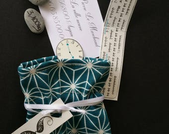 Geometric, blue Scandinavian birth announcements