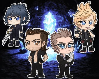 Final Fantasy FFXV Stickers, Keychains, and Badges