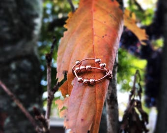 Copper Spinner Ring, Worry Ring, Anxiety Ring, Stress Ring, Meditation Ring