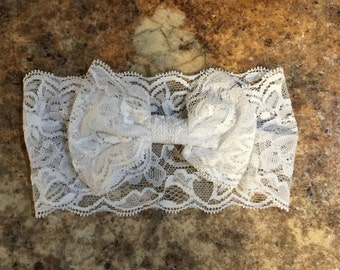 Lace Bow Headband