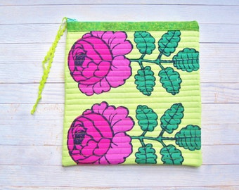 Marimekko tablet IPad case laptop bag digital device sleeve cover rose soft pocket padded pink lime green zipper pouch Mother's Day gift