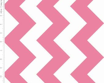 SALE - Hot Pink and White Large Chevron by Riley Blake - C330-70-HOT PINK