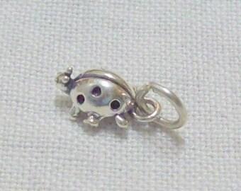 SALE - Sterling Silver Ladybug Charm