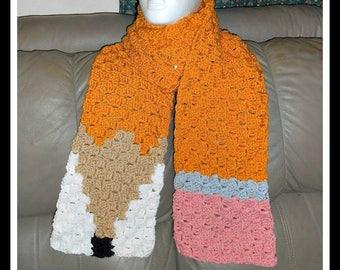 Pencil Super Scarf, C2C Graph, Crochet Pattern