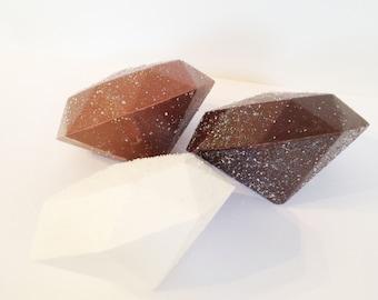 Chocolate Diamond - Giant Solid Chocolate Diamond - Sparkle Diamond