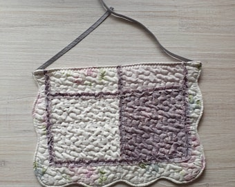 Gorgeous little girls apron - quilted apron - Floral apron for children.