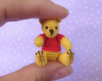 PDF PATTERN - Crochet Miniature Pooh Bear - Amigurumi Tutorial
