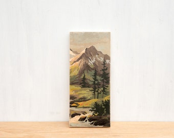 Paint by Number Art Block 'Verdant Valley' -  mountain valley, stream, vintage landscape