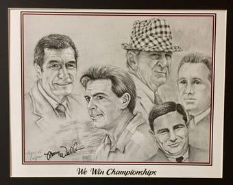 Alabama Crimson Tide National Championship Coaches