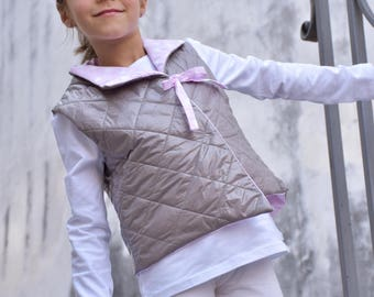 Offer-child's light vest last size available 5/6 years-girl fashion vest