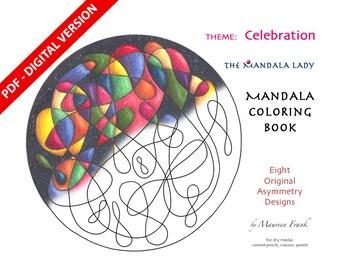 Celebration DIGITAL Mandala Coloring Book - PDF VERSION