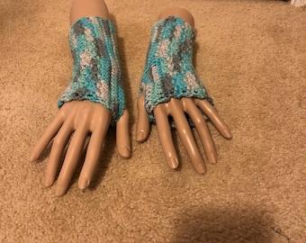 Icy Fingerless Gloves