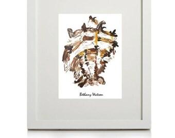 Colour Illustration 'Acrylic Shell' digital print (UNFRAMED)