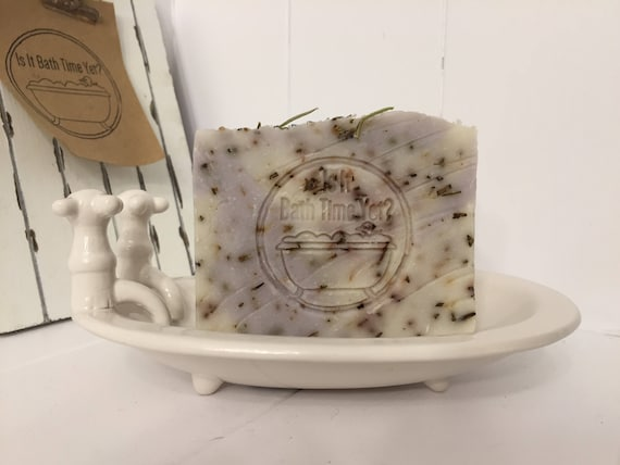 Lavender Rosemary Handmade Soap, artisan soap, Lavande Savon Rosemary Handmade