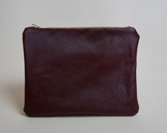 Small Burgundy Clutch