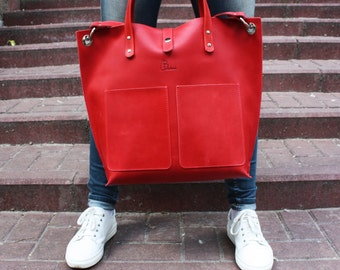 Leather tote bag, Laptop Leather Bag, Leather woman bag, Leather Laptop Bag, Leather Laptop Tote Bag, leather bag, 15 inch Laptop, women bag