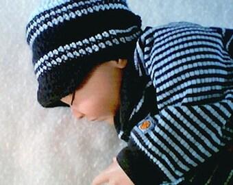 0011 Crochet Baby Visor,Midnight Sky Baby,Newborn to 03 Months Visor Patterns,Infant Pattern by CarussDesignZ