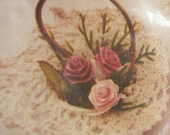 Vintage Doily Basket Ornament Kit NIP
