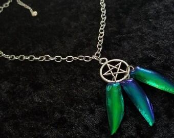 Emerald Beetle Ritual Necklace