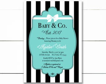 Baby and Co Baby Shower Invitation, Baby and Co Printable Baby Shower Invitation