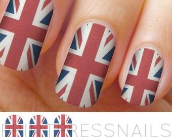 Union Jack, British Flag Nail Wraps, Nail Stickers, Nail Decals