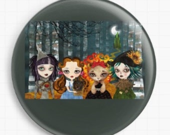 Needle Minder - Licensed Art By Sandra Vargas - Oz Girls - Wizard Of Oz - Cross Stitch Keeper - Fridge Magnet