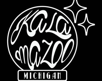 Crystal Ball Kalamazoo Vinyl Sticker/Decal