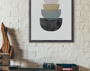 Modern Art Print, Geometric Art Print, Abstract Art Print, Industrial Print, Minimalist, Scandinavian Art Print, Loft Style, Bowl, D011