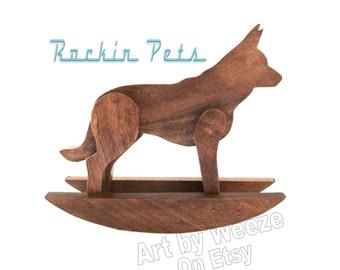 Rocking German Shepherd - German Shepherd - German Shepherds - Rocking Horse - Rocking Dog - Dog Sculpture - German Shepards