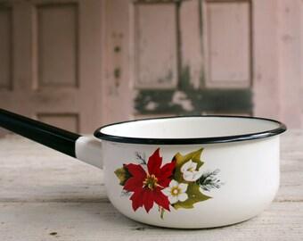 Vintage Enamel Cooking Pot, 1970's