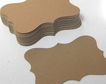 500 Large kraft paper tags or place cards - sales tags or labels - wedding tags or favor tags - earring cards