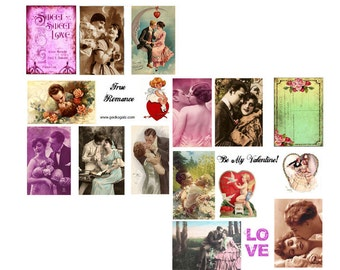 True Romance Digital Collage Set