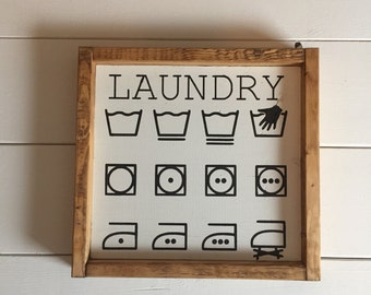 Laundry Sign, Farmhouse Sign, Fixer Upper Sign