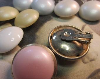 Vintage CORO© Interchangeable Clip-On Earrings in Five Pastel Colors