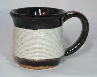 Black and White Textured Coffee Mug